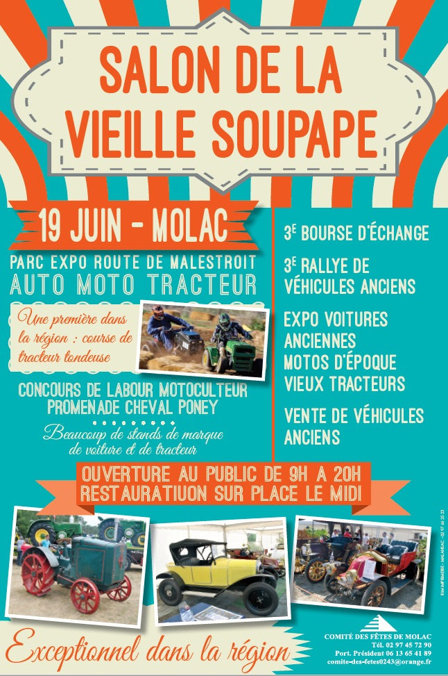 Molac le salon de la vieille soupape edition loisirs for Salon de la photo 2016